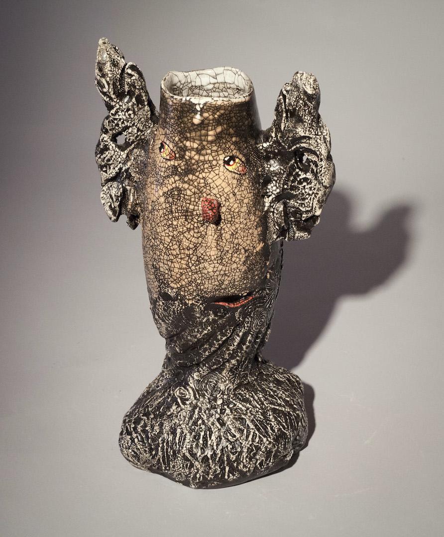 Andy Nasisse, Large Pink Vase, ceramic, Sherrie Gallerie