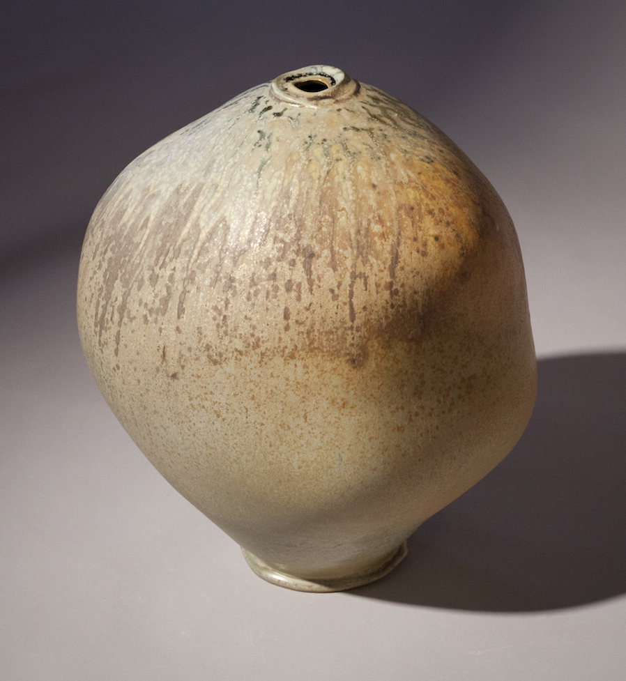 Tom Coleman, Crystal Matt Loose Bottle, porcelain ceramic vessel, functional, pottery, Sherrie Gallerie