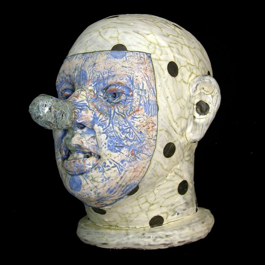 Tom Bartel, Head, ceramic, figurative, sculpture, Sherrie Gallerie