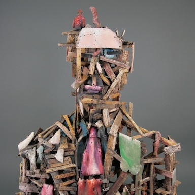 Jack Earl, Man Made Man, ceramic, figurative, Sherrie Gallerie