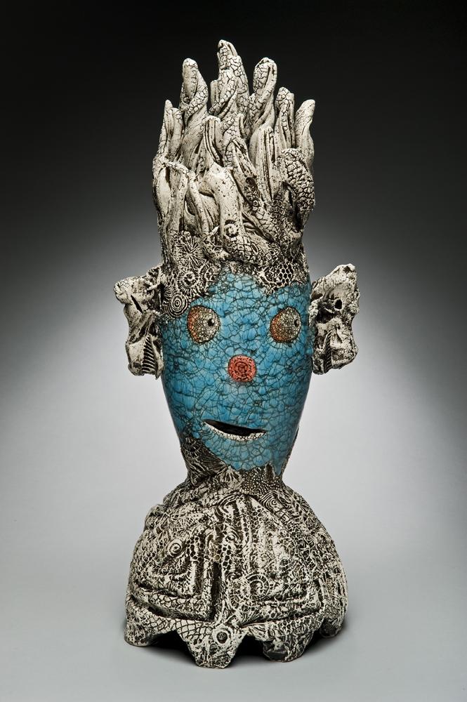 Andy Nasisse, Dos Ojos, ceramic, Sherrie Gallerie
