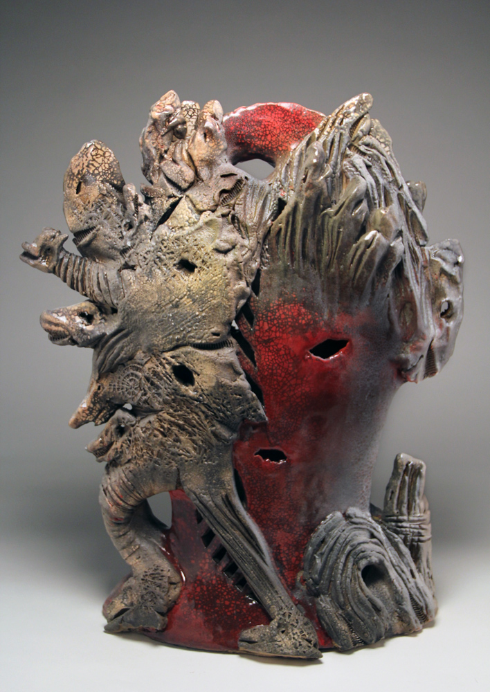 Andy Nasisse, Arch Enemy, ceramic, Sherrie Gallerie