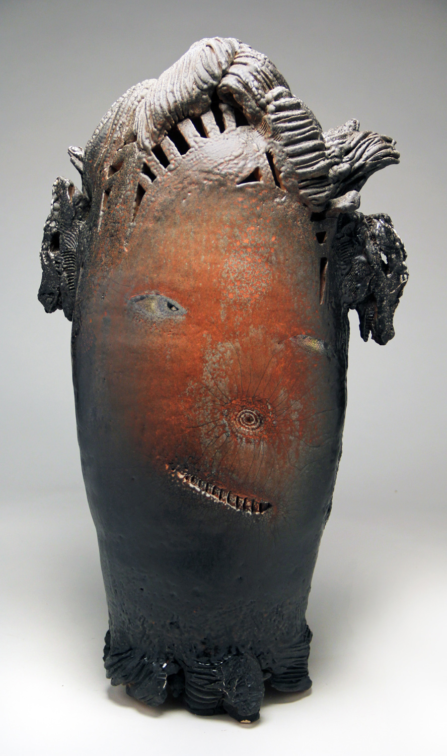 Andy Nasisse, Red Skin Walker, ceramic, Sherrie Gallerie