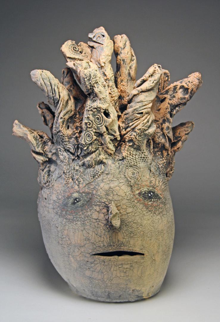 Andy Nasisse, Hoodo Hairdoo, ceramic, Sherrie Gallerie