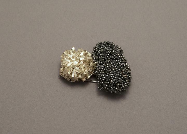 Biba Schutz, Art Jewelry, Pin, texture, wearable art, brooch, Sherrie Gallerie