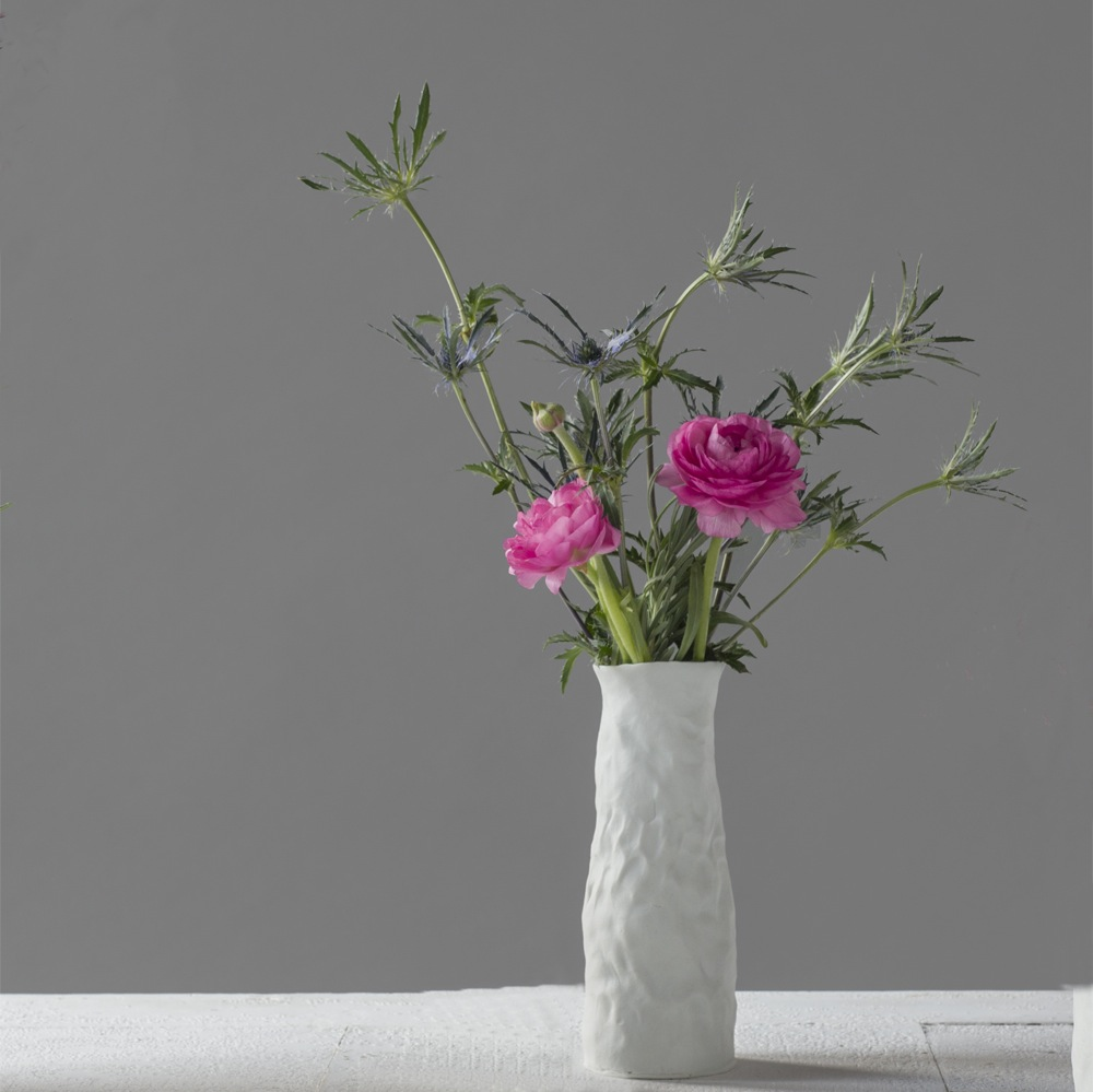 Ingrid Bathe, Bud Vase, hand built porcelain ceramic, neodymium glaze, functional, pottery, Sherrie Gallerie