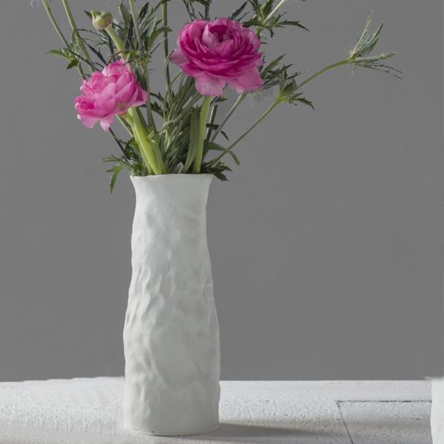 Ingrid Bathe, Flower Vase, hand built and high fired porcelain