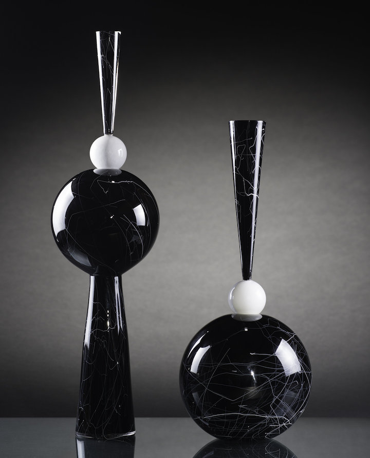 Zach Layhew, Inverse Vases, blown glass, vessel, Sherrie Gallerie