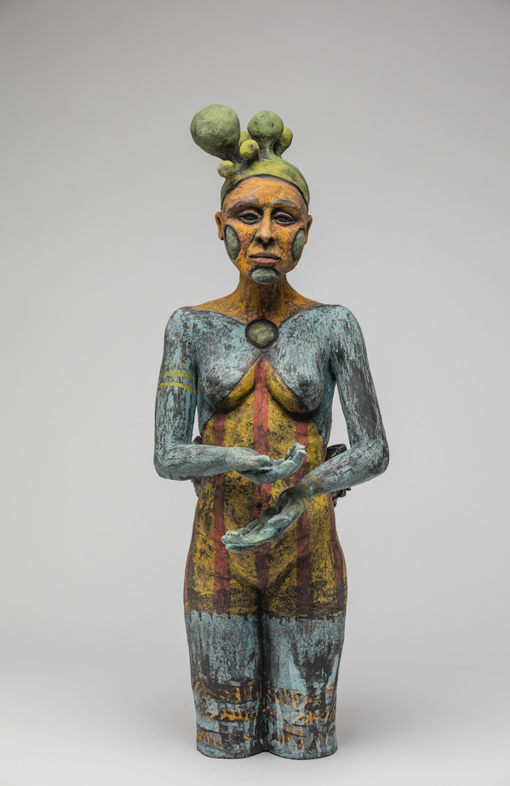 Julie Woodrow, Performer, ceramic, figurative, Sherrie Gallerie