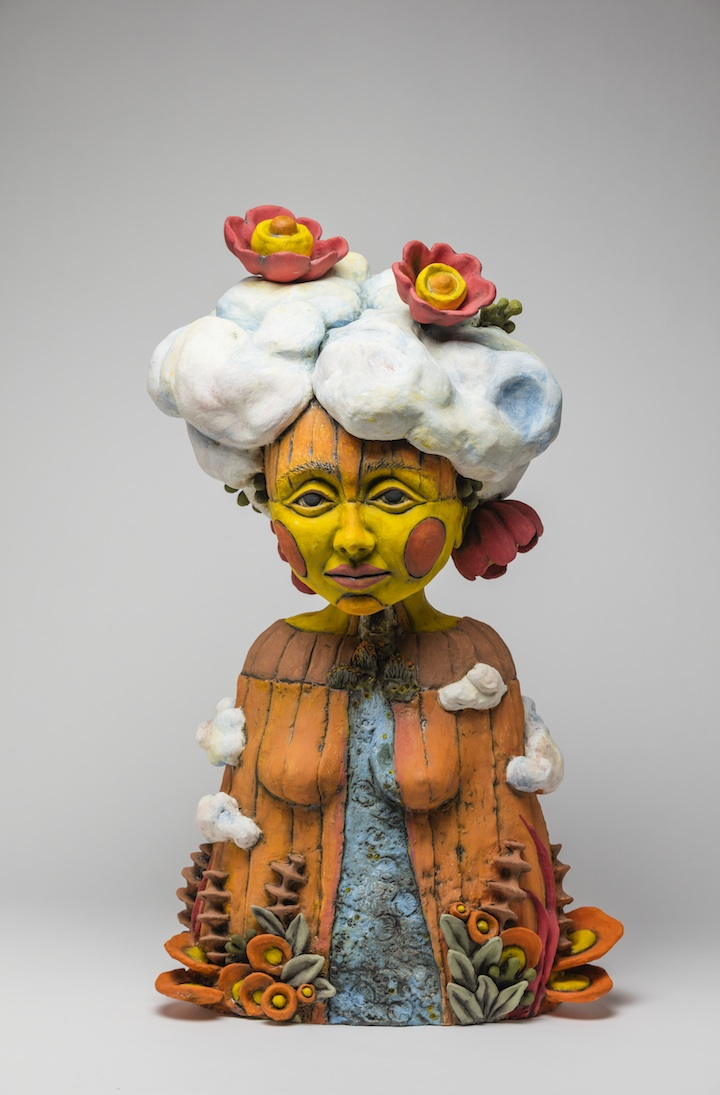 Julie Woodrow, Cloud Splitter, ceramic, figurative, Sherrie Gallerie