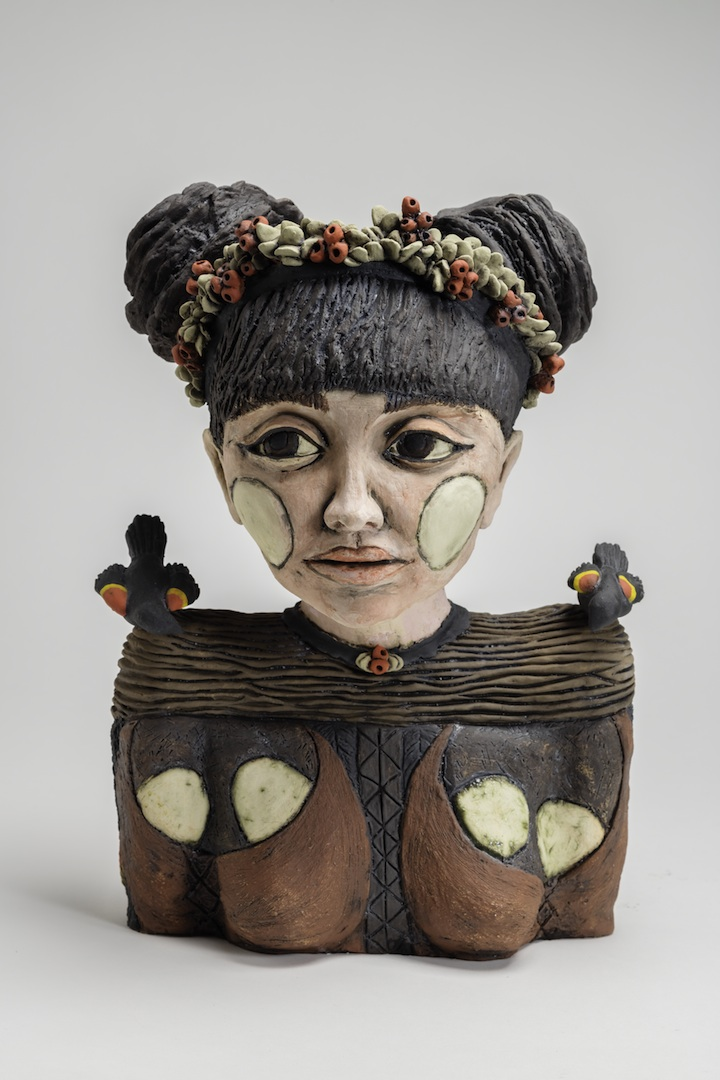 Julie Woodrow, Nidifiguous, ceramic, figurative, Sherrie Gallerie