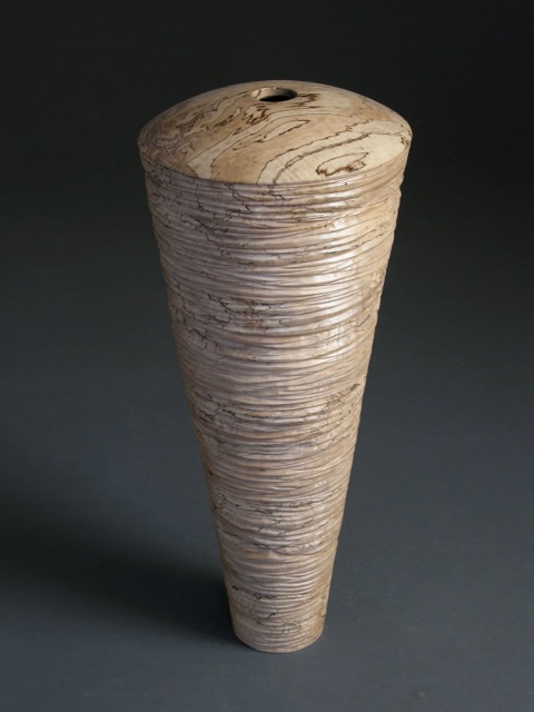 Michael Bauermeister, Spalted, incised, spalted maple wood, woodworking, sculpture, Sherrie Gallerie