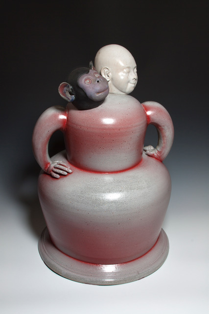 Joe Bova, Ninety Eight Point Seven Percent, ceramic sculpture, Sherrie Gallerie
