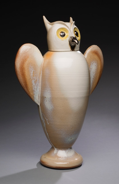 Joe Bova, Athena's Canopic, ceramic sculpture, Sherrie Gallerie