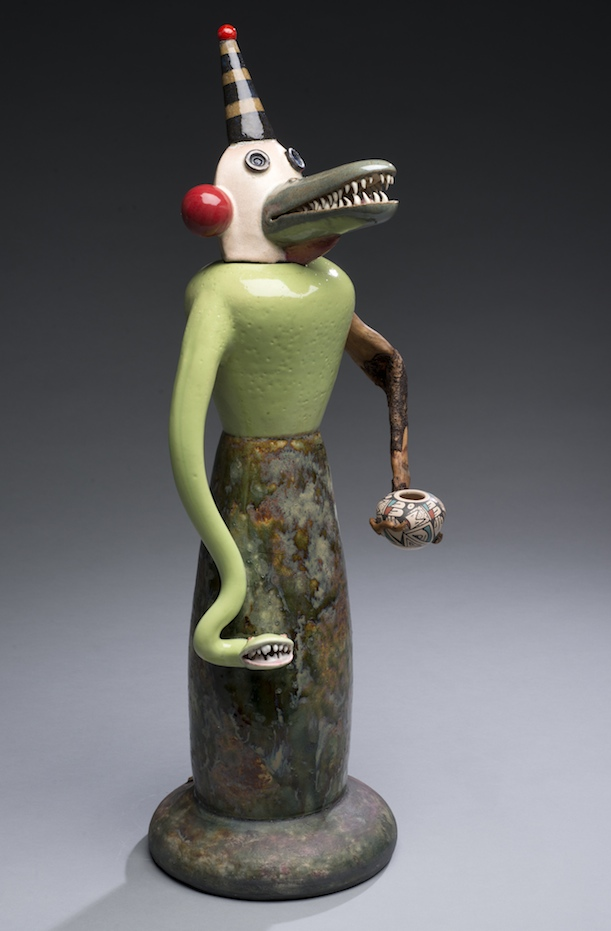 Joe Bova, Biter, ceramic sculpture, Sherrie Gallerie