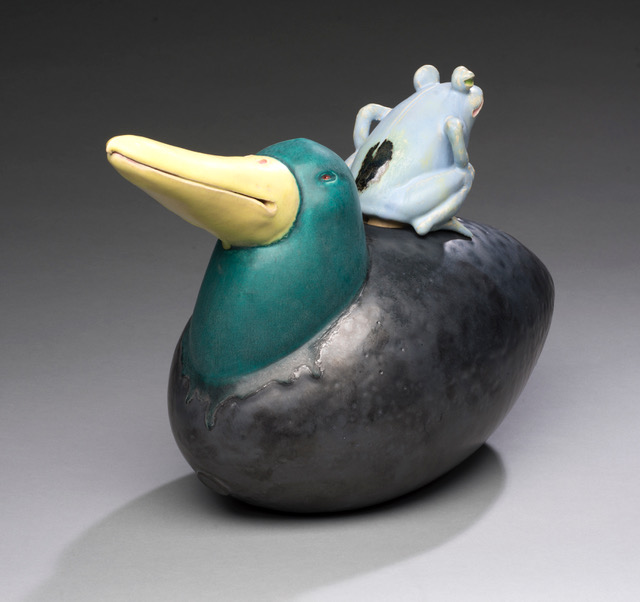 Joe Bova, Ferry, ceramic sculpture, Sherrie Gallerie
