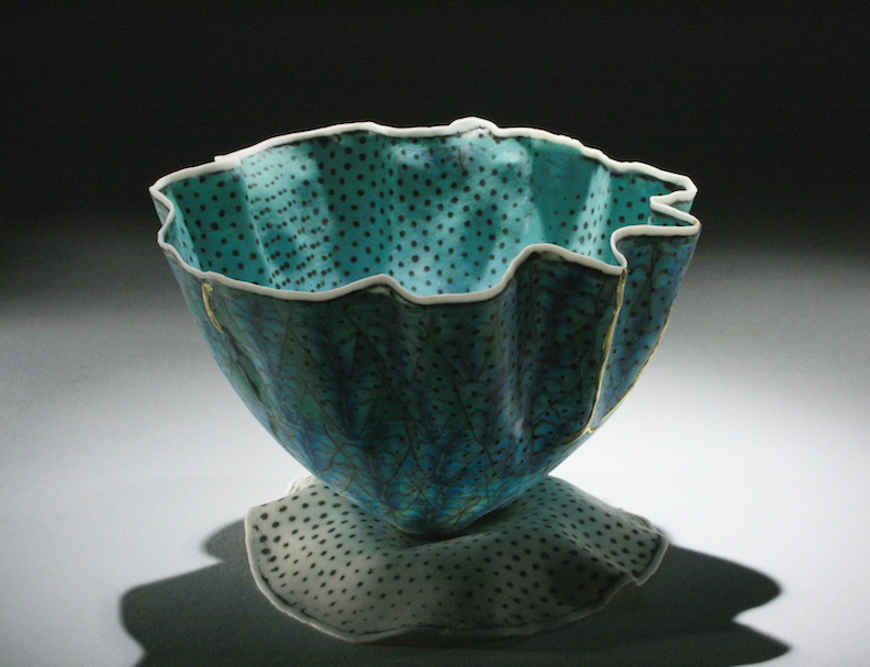 """Curtis Benzle,""""Floral 13,"""" porcelain, 4x4.5x4.5 in, $450"""