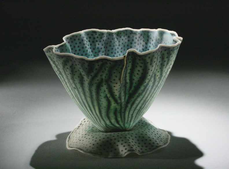"""Curtis Benzle,""""Floral 9,"""" porcelain, 4x4.5x4.5 in, $450"""