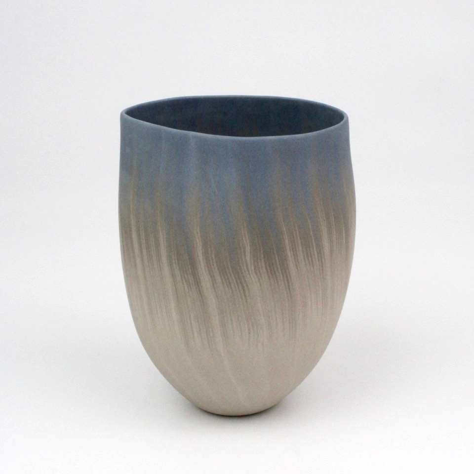 """Thomas Hoadley, """"Bowl 1104,"""" colored porcelain, 6.75x5.25x4.75 in, $1300"""