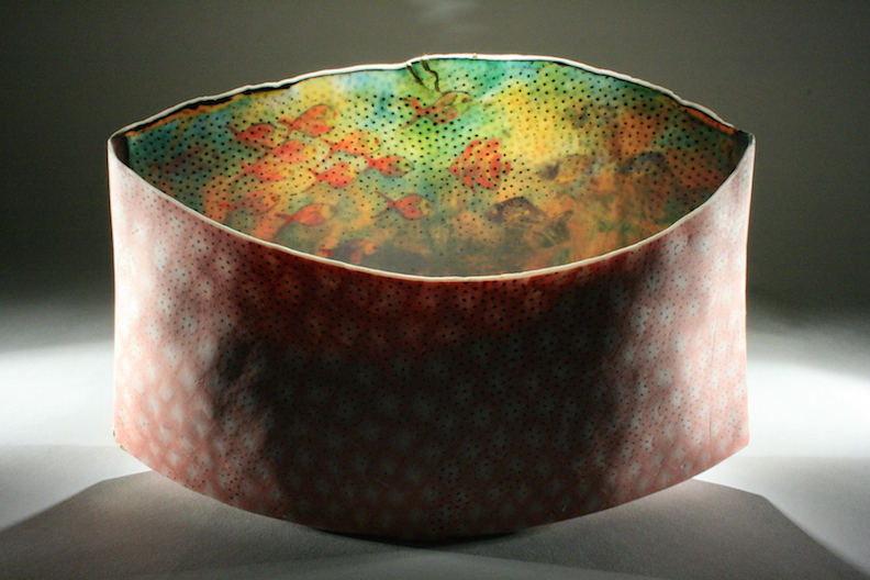 Curtis Benzle, Mundo Durado, porcelain ceramic vessel, Sherrie Gallerie