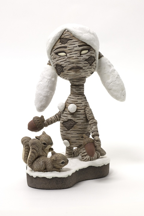 Calvin Ma, Give a Little, ceramic, porcelain, figurative, Sherrie Gallerie