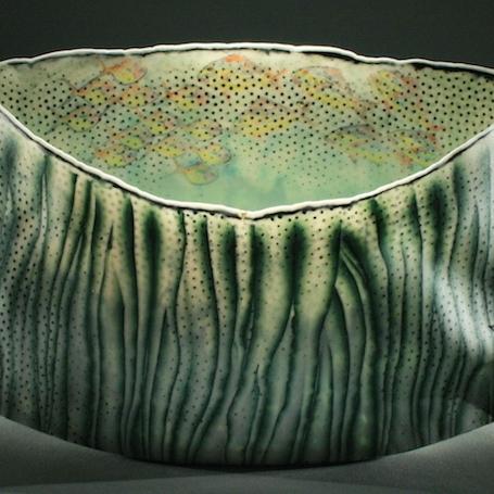 Curtis Benzle, Red Vessel, colored porcelain