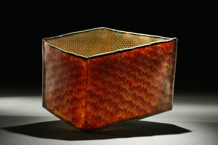 Curtis Benzle, Counter, porcelain, nerikomi, vessel, ceramic, clay, Sherrie Gallerie