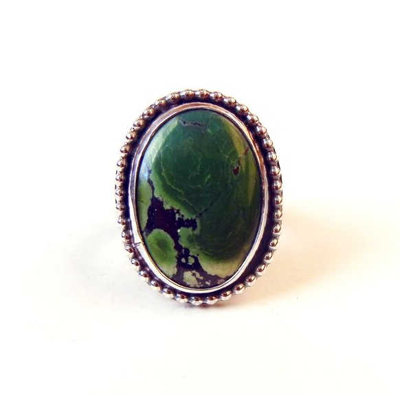 Madeleine Fields, jewelry, ring, turquoise, silver, gemstone, Sherrie Gallerie