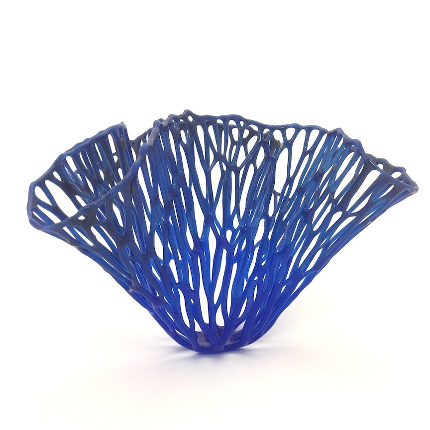 "Lauren Eastman Fowler, ""Coral Bloom B3,"" glass, 7.25x13.25x12 in"