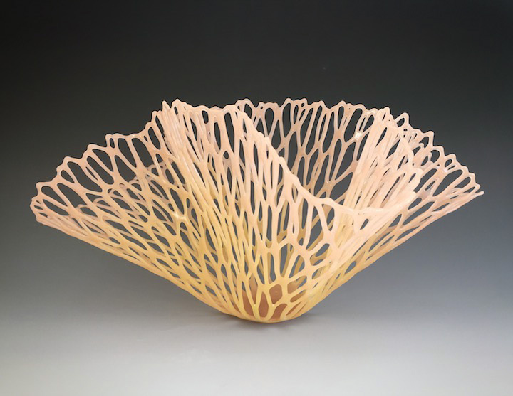 "Lauren Eastman Fowler, ""Vitre Flora Y1,"" glass, 11x22x14.5 in"