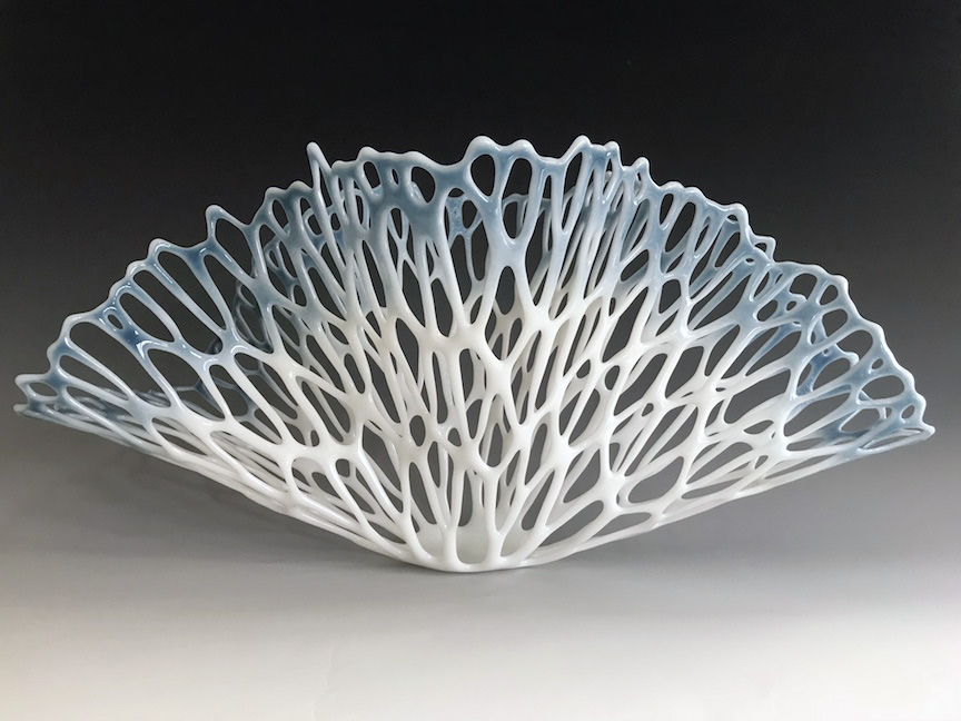 "Lauren Eastman Fowler, ""Vitre Flora W2,"" glass, 10x23.5x11.5 in"