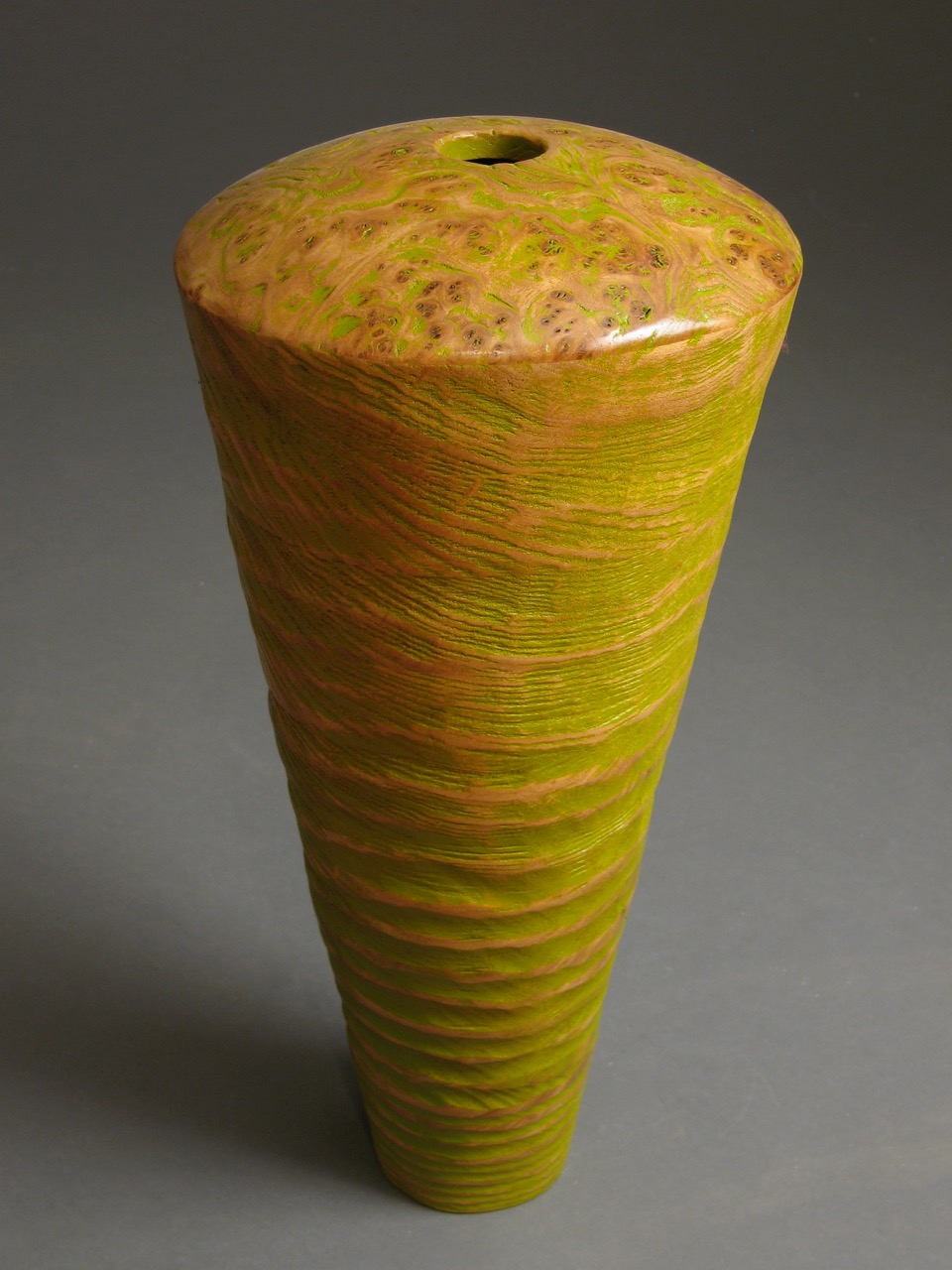 Michael Bauermeister wood sculpture vessels elm burl Sherrie Gallerie Short North Columbus Ohio Art Gallery