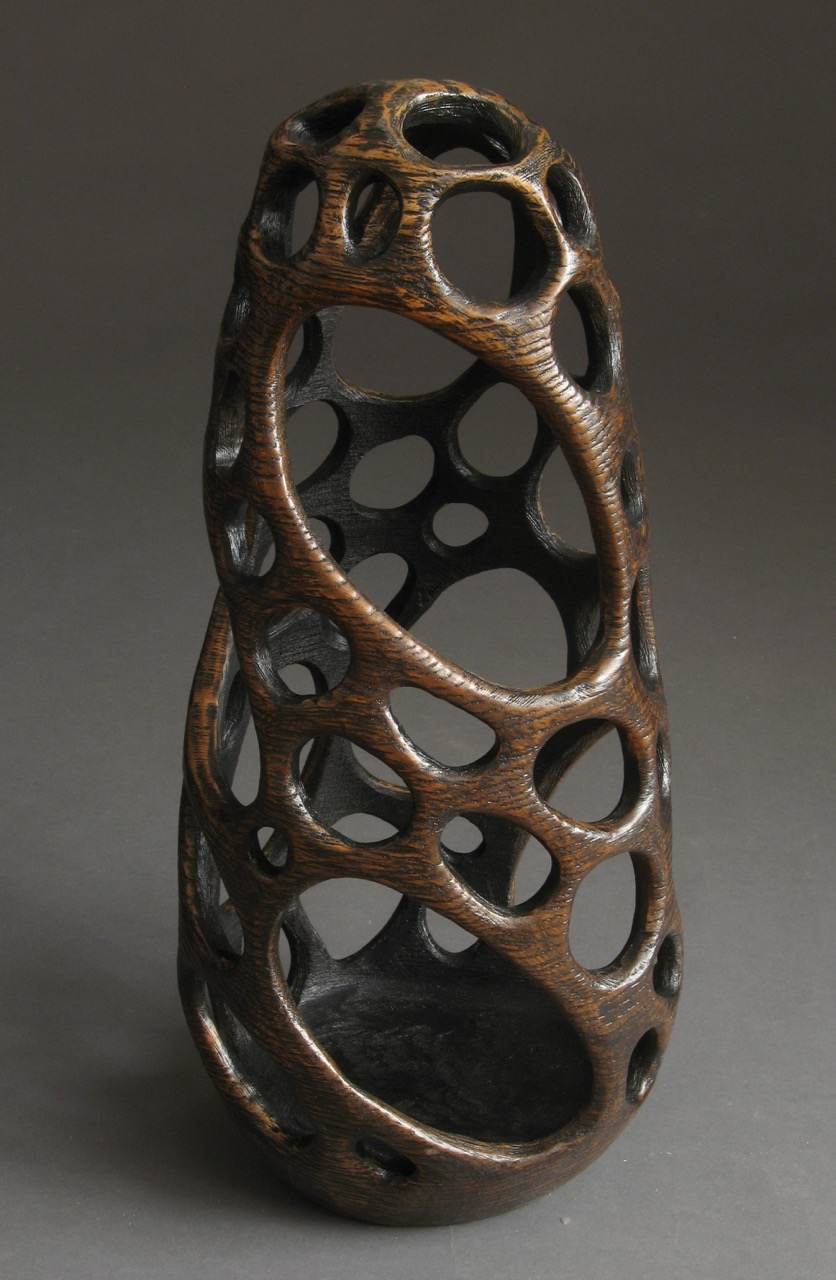 Michael Bauermeister wood sculpture vessels oak hollow figurel Sherrie Gallerie Short North Columbus Ohio Art Gallery
