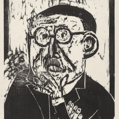 Sid Chafetz, Still Life, woodcut print, printmaking, Sherrie Gallerie