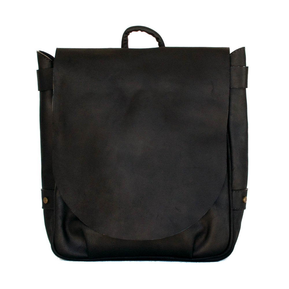 LEATHER BACKPACK - TAN - FRONT.jpg