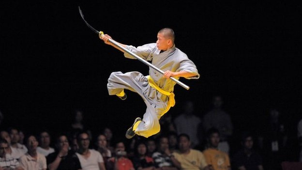 "The Shaolin monks have been famed for their martial arts for centuries in BBC story about ""commercializing the temple"""