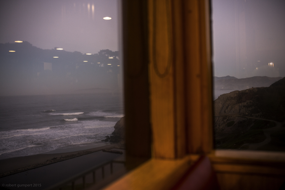 30 October 2015: Morning overlooking Sutro Baths and the Pacific.