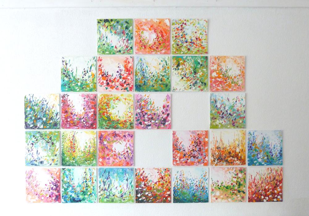 Mosaïque - Une série de petits cartons entoilés de 20x20 cm à collectionner, nouveautés à venir régulièrement!