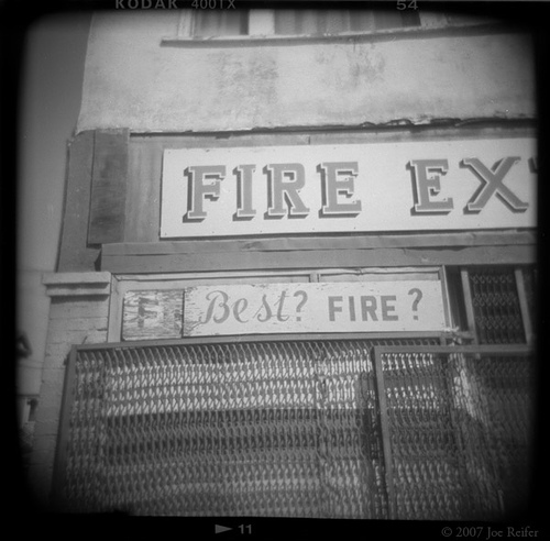 Best? Fire? -- by Joe Reifer