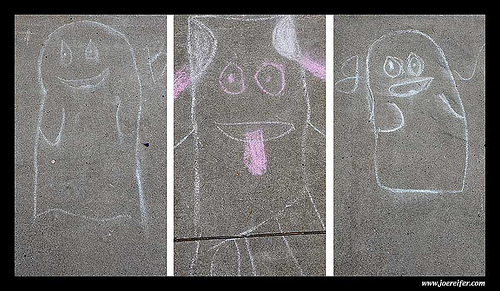 Sidewalk ghosts -- by Joe Reifer