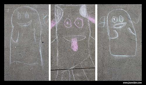 Sidewalk ghosts -- by Joe Reifer
