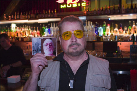Dan Prall, a ringer for Walter at the 2005 Lebowski Fest West -- by Joe Reifer