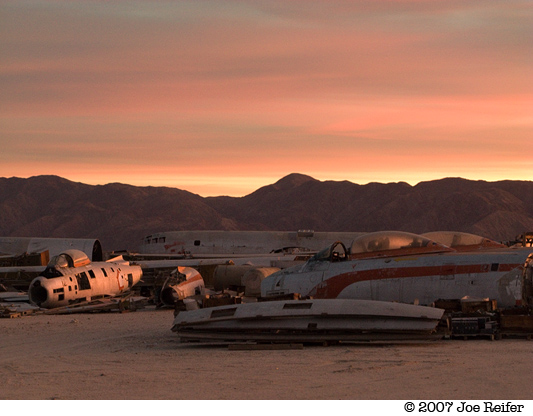 Boneyard Sunset -- by Joe Reifer