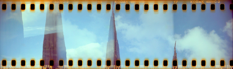 Andy Goldsworthy Spire in the Presidio (quadruple ascending/descending sprocket Holga) -- by Joe Reifer