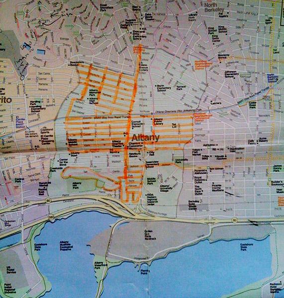 Walking Albany Map