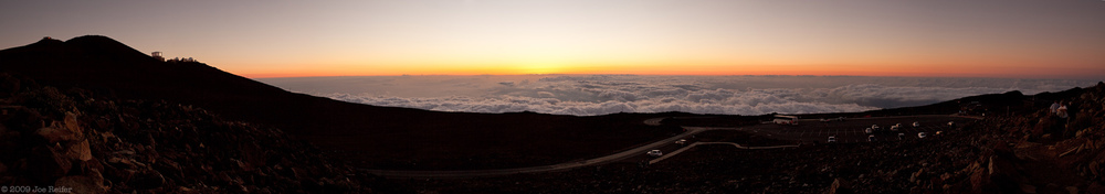Panorama taken just after sunset on top of Haleakala -- by Joe Reifer