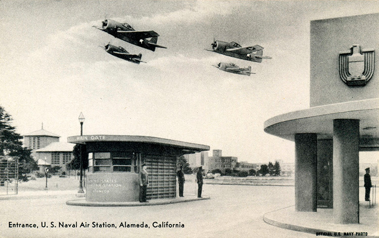 Alameda Naval Air Station Entrance