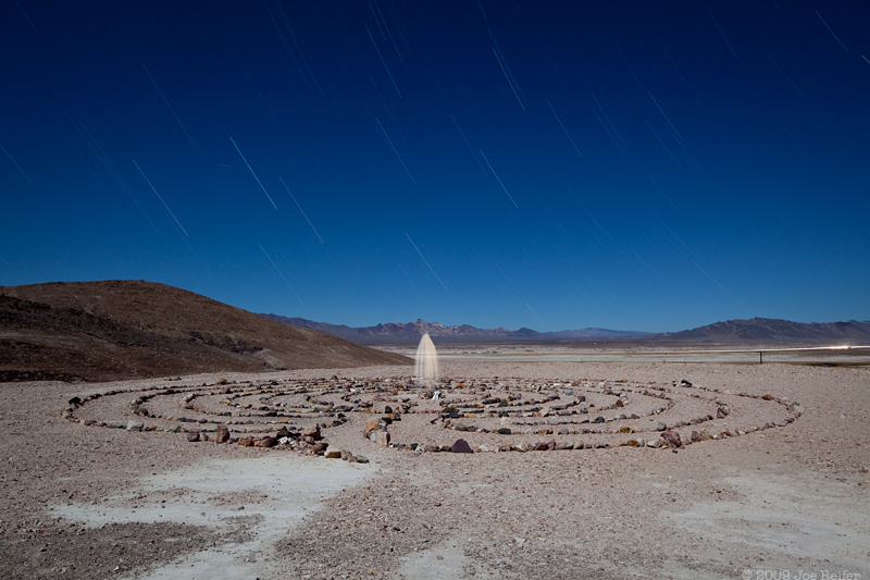 Yaga Labyrinth, Tecopa Hot Springs -- by Joe Reifer