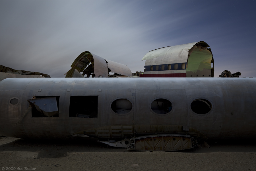 Untitled (Airplane Boneyard) -- by Joe Reifer