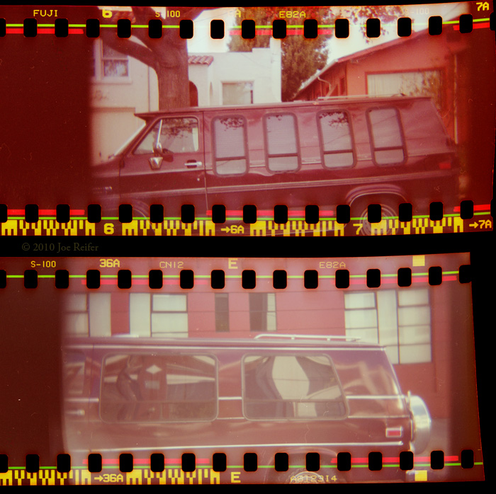 Sprocket Holga van diptych -- by Joe Reifer